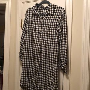 Old navy gingham shirt dress